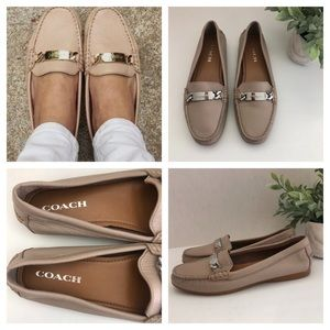 Coach Loafer Olive Womens A7751 Size 7.5